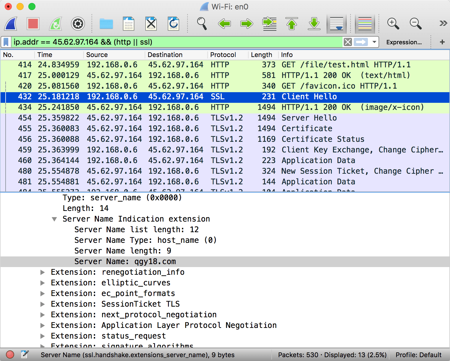 http alt server in wireshark